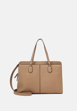 HARRIET PADDED BUCKLE LAPTOP BAG - Handbag - taupe