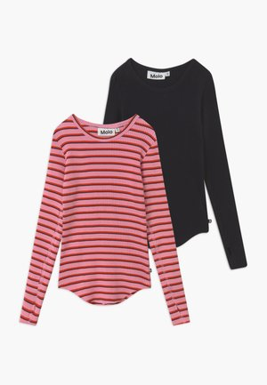 ROCHELLE 2 PACK  - Long sleeved top - pink/red/black