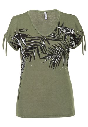 ETAM REGULIER RE - Print T-shirt - m.light olive