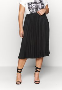 CAPSULE by Simply Be - PLEATED SKIRT - A-line skirt - black - 0