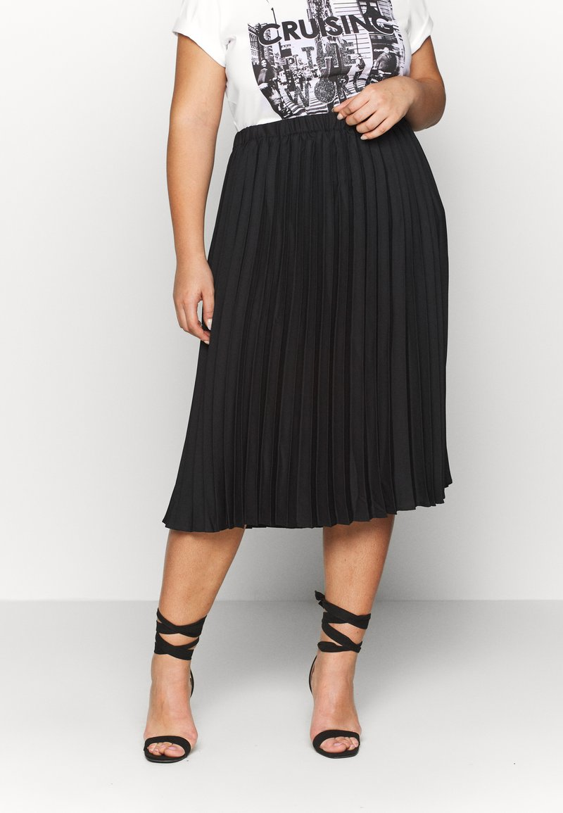 CAPSULE by Simply Be - PLEATED SKIRT - A-line skirt - black