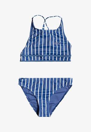 PERFECT SURF TIME SET - Bikini - moonlight blue kuta stripes