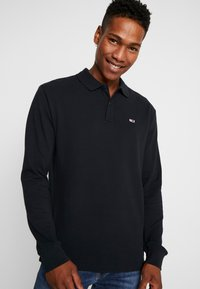 Tommy Jeans - CLASSICS LONGSLEEVE - Polo shirt - black - 0