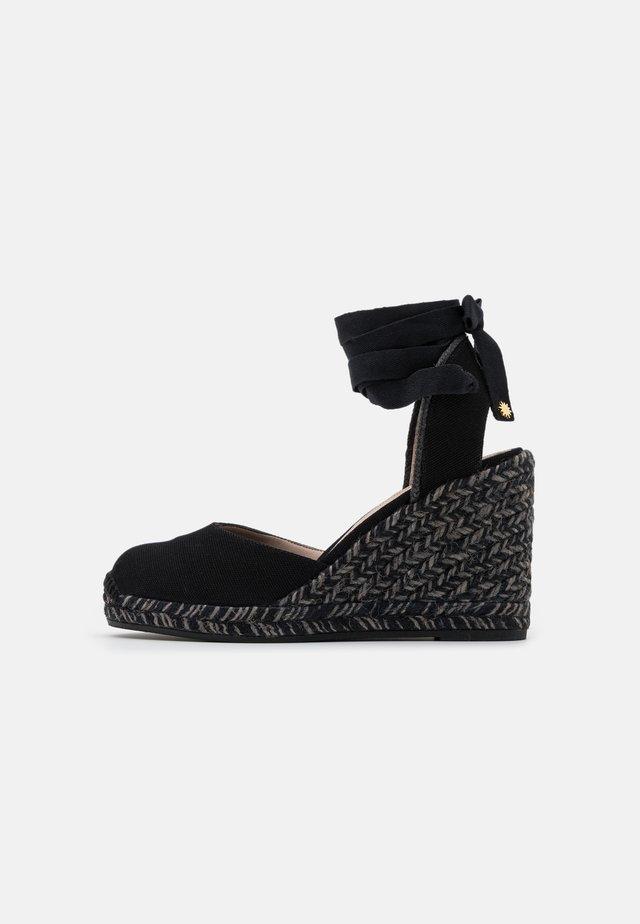 MARGUERITA - Korkeakorkoiset sandaalit - black