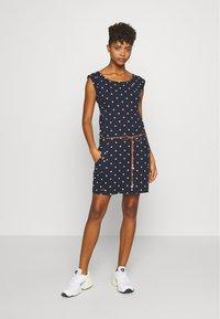 Ragwear - TAG DOTS - Jersey dress - navy - 1