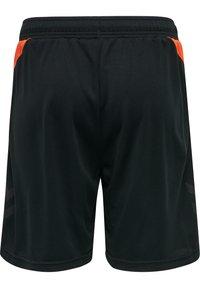 Hummel - ACTION  - Shorts - black/fiesta - 1