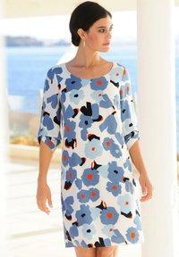 Alba Moda - Day dress - hellblau,koralle - 3
