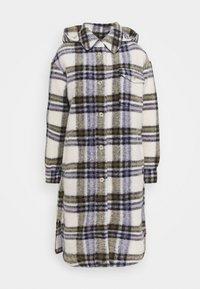 Marc O'Polo DENIM - CHECK COAT LONG - Classic coat - multi/pale beige - 0
