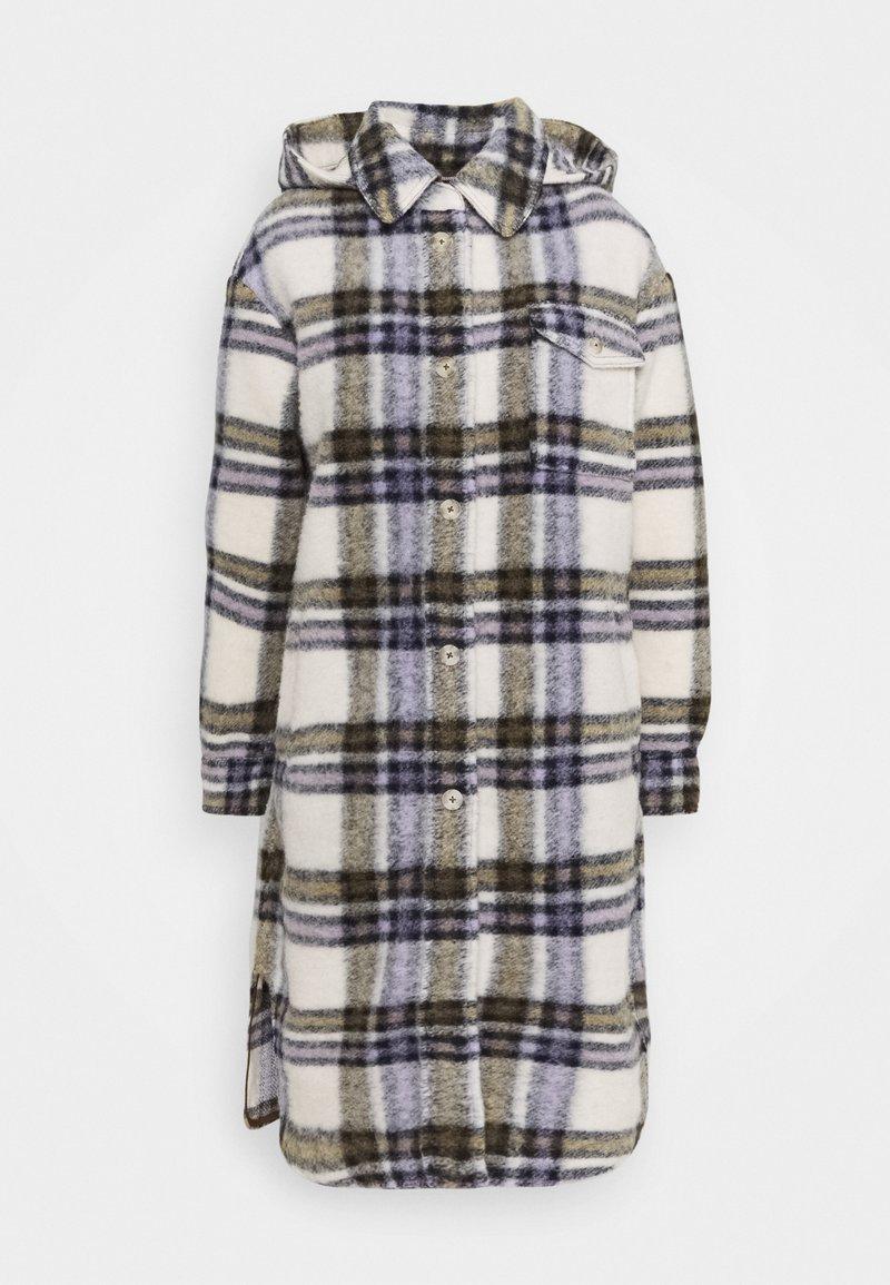 Marc O'Polo DENIM - CHECK COAT LONG - Classic coat - multi/pale beige