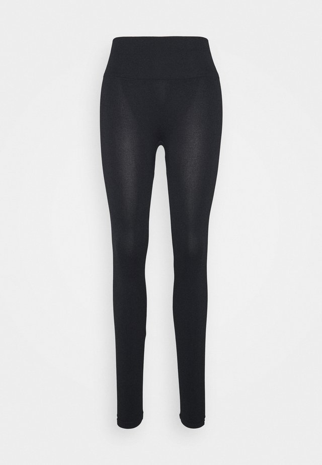 WOMEN LOGO MASON - Legging - black / white