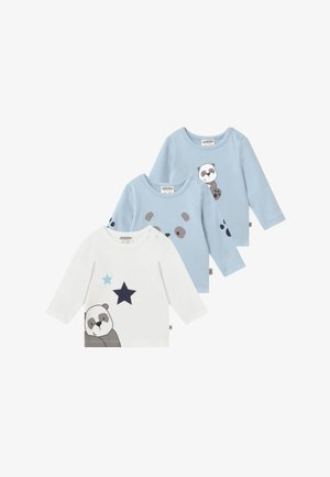 PANDA LOVE 3 PACK - Long sleeved top - blue/white