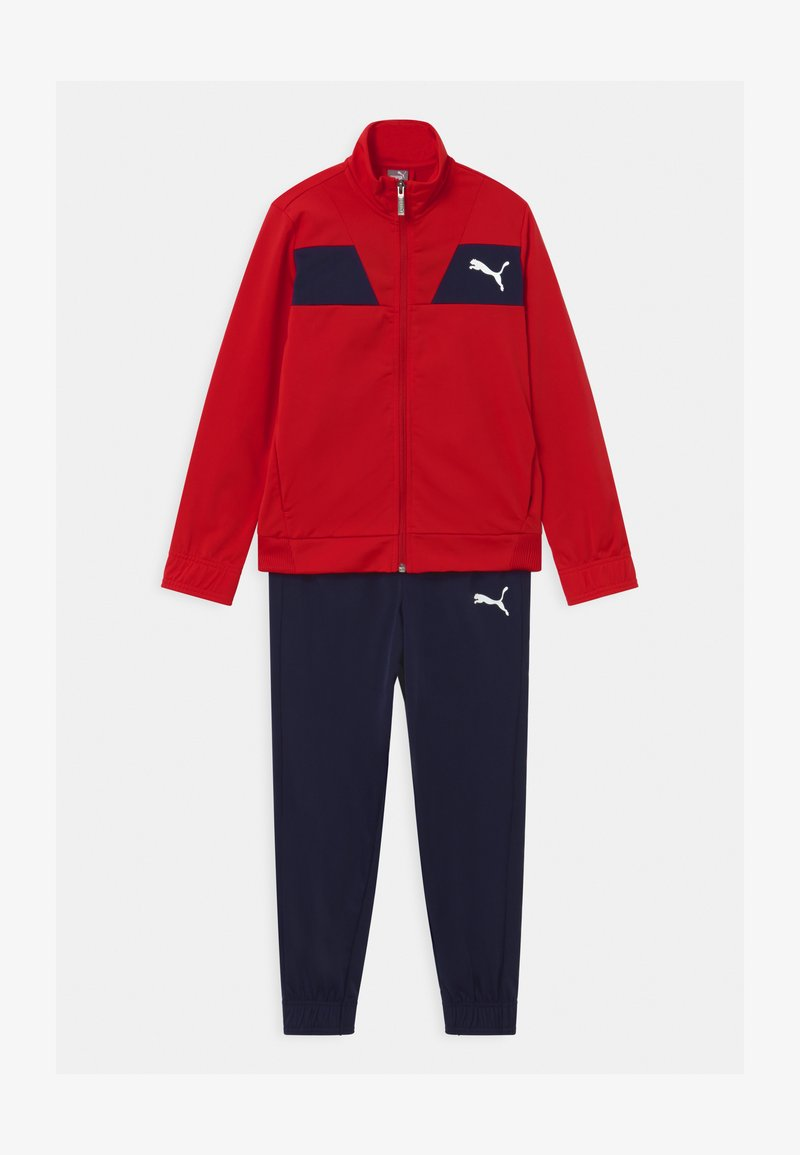 Puma - POLY SET UNISEX - Tracksuit - high risk red