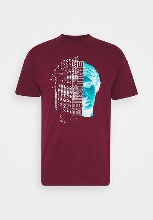 GENESIS TEE - Print T-shirt - burgundy