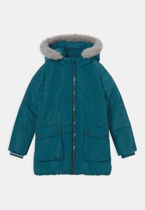 Winter coat - blue coral