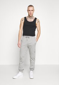 Brooklyn Supply Co. - PINSTRIPE CARGO - Tracksuit bottoms - grey - 1
