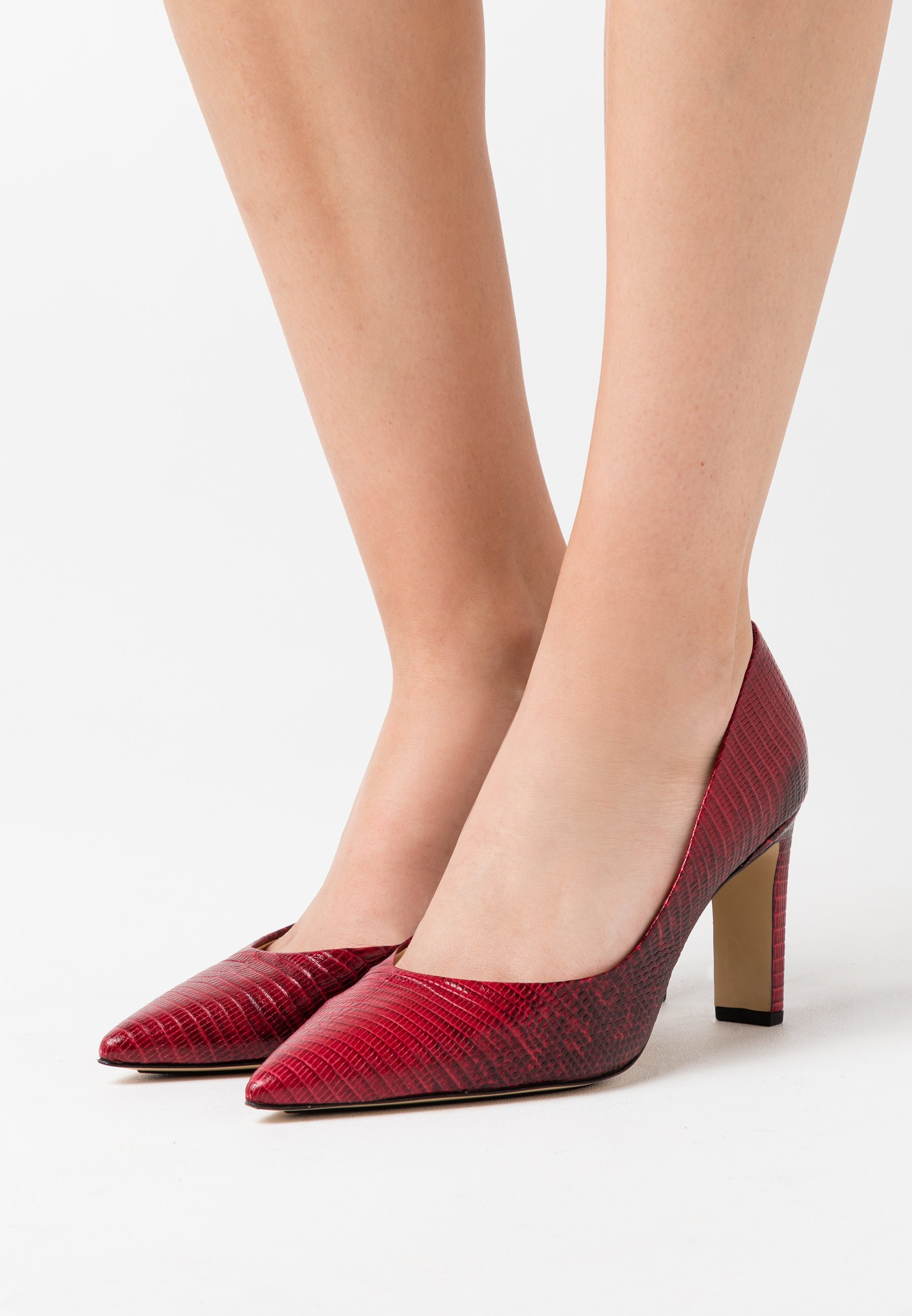 Auténtico Högl Zapatos altos - lizzard cherry | Calzado de mujer2020 pPg0z