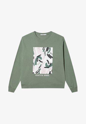 MIT PRINT  - Sweatshirt - khaki