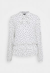 Marks & Spencer London - SPOT PEPLUM TOP - Long sleeved top - off-white - 0