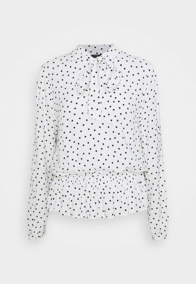 SPOT PEPLUM TOP - Long sleeved top - off-white
