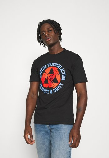 RESPECT AND UNITY - Printtipaita - black