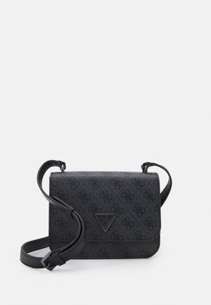 NOELLE MINI CROSSBODY FLAP - Torba na ramię - coal