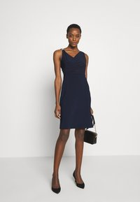 Lauren Ralph Lauren - BONDED DRESS TRIM - Cocktail dress / Party dress - lighthouse navy - 1