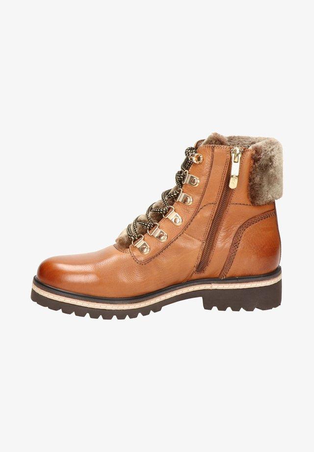 BRANDY - Lace-up ankle boots - cognac