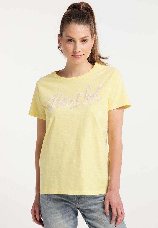 Triko spotiskem - mellow yellow