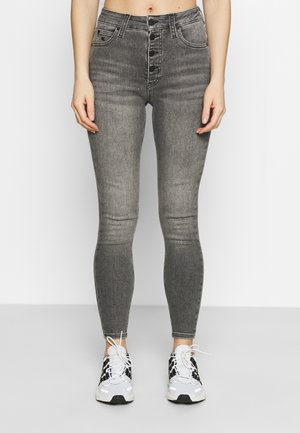 HIGH RISE SUPER SKINNY ANKLE - Skinny džíny - denim grey