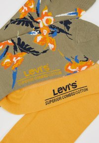 Levi's® - REGULAR CUT TROPICAL 2PACK - Chaussettes - khaki - 2