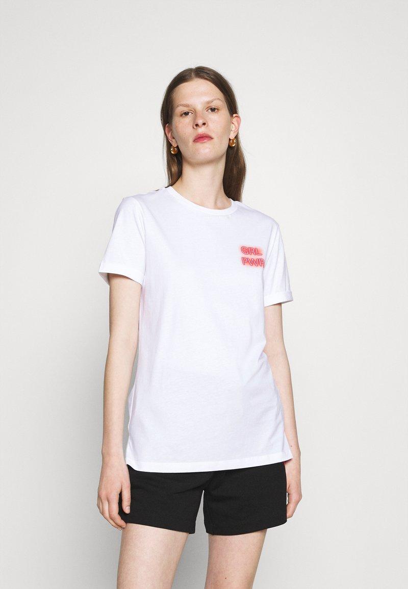 HUGO - DIBIUSA - T-shirts med print - white