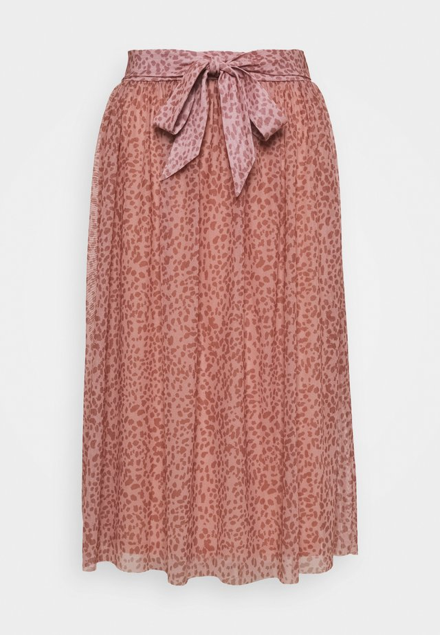 JASMIN BELT SKIRT  - Gonna a campana - rose