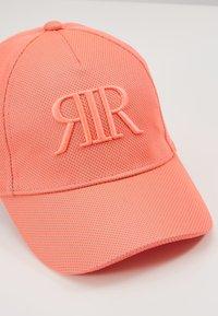 River Island - OG CORAL MESH RVR CAP - Hattu - coral - 2
