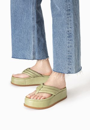 ZEHENSTEG - T-bar sandals - olive olv