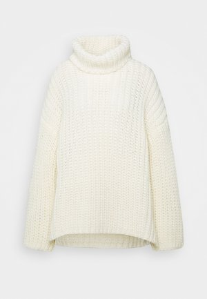 TURTLE NECK - Strickpullover - offwhite