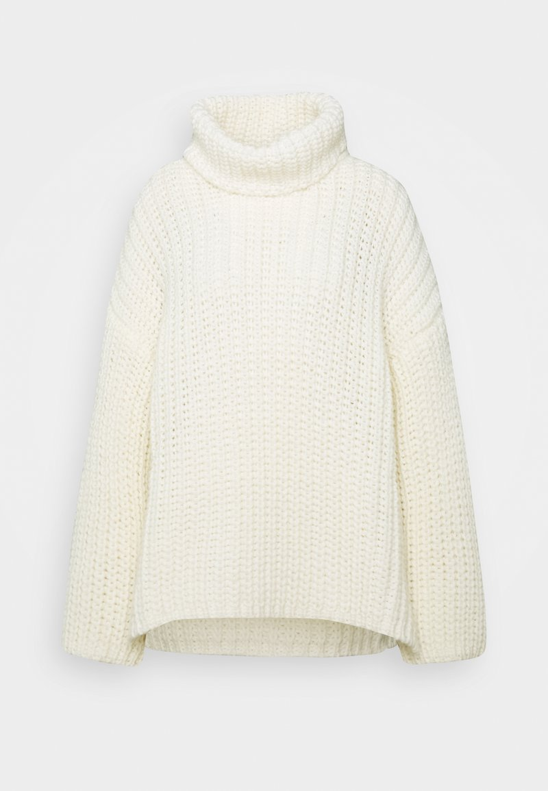 Benetton - TURTLE NECK - Jumper - offwhite