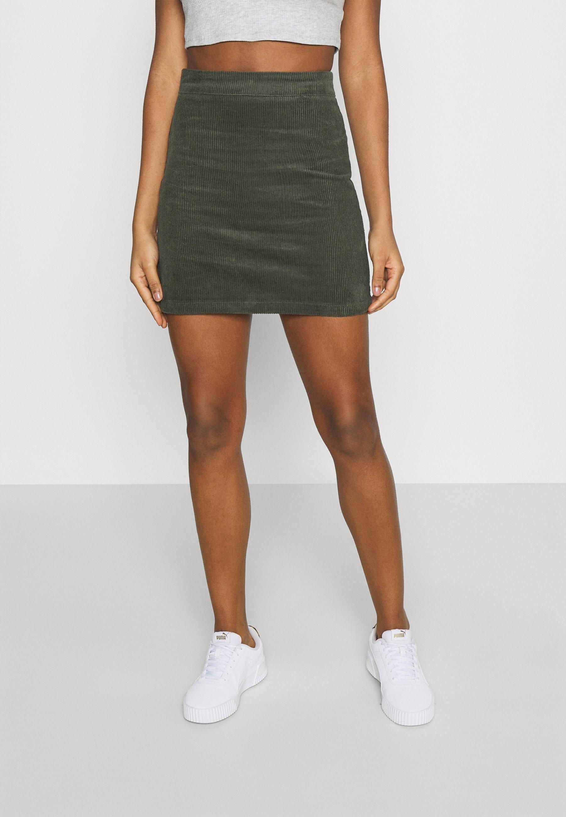 Mujer MINI SKIRT - Minifalda - dark green