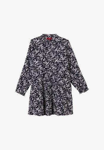 Shirt dress - navy floral aop