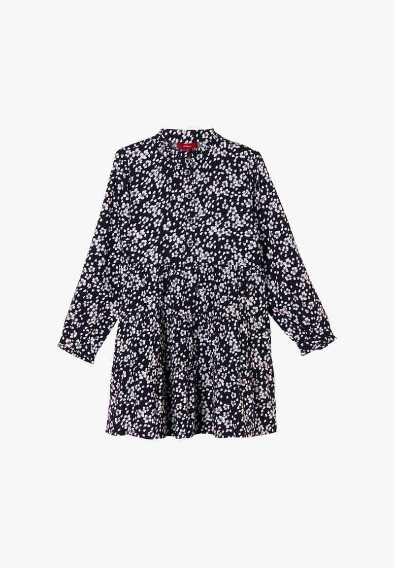 s.Oliver - Shirt dress - navy floral aop