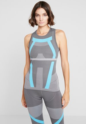 PRIMEKNIT RUNNING TANK TOP - Koszulka sportowa - grey five/grey/blue