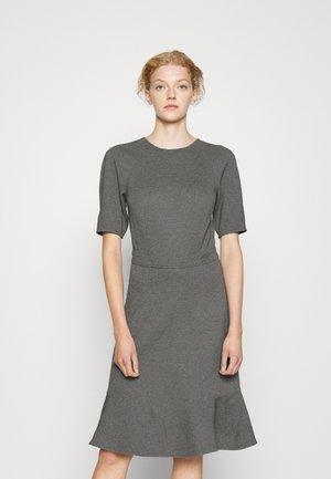DRESS PEPLUM - Jersey dress - dark grey melange