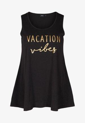 MIT AUFDRUCK UND A-LINIE - Top - black vacation