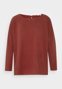 TOM TAILOR DENIM - STRUCTURED TEE - Topper langermet - rust orange - 0