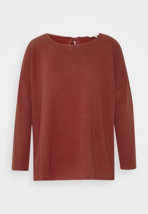STRUCTURED TEE - Long sleeved top - rust orange