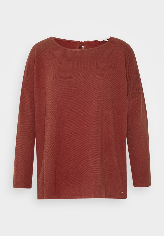STRUCTURED TEE - Camiseta de manga larga - rust orange