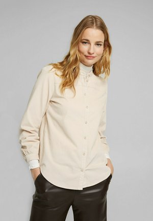 Button-down blouse - cream beige