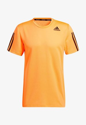 PRIMEBLUE AEROREADY 3-STREIFEN SLIM T-SHIRT - T-shirt print - orange