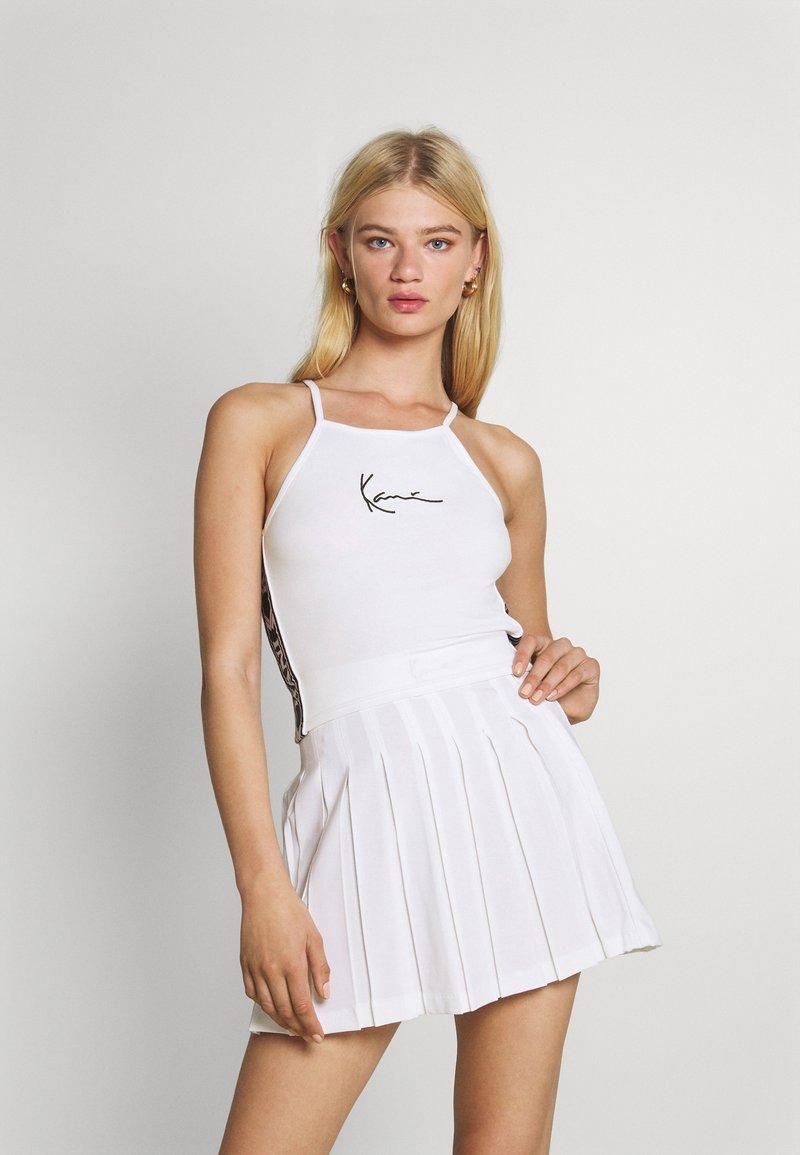Karl Kani - SMALL SIGNATURE TAPE - Top - white
