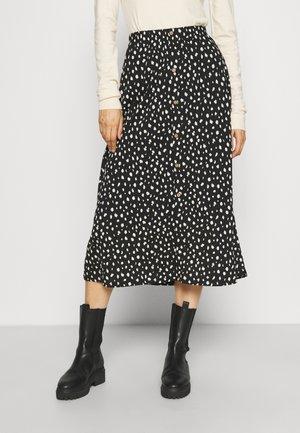 ONLPELLA BUTTON SKIRT - Maxi skirt - black