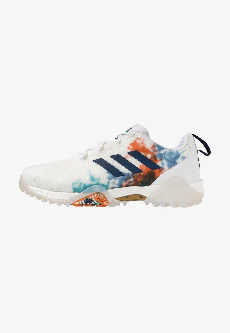 adidas Golf - CODECHAOS - Golfové boty - footwear white/gold metallic/tech indigo